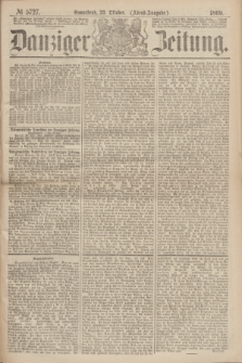 Danziger Zeitung. 1869, № 5727 (23 Oktober) - (Abend-Ausgabe.)