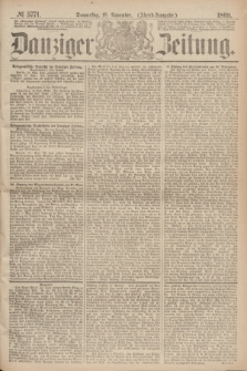 Danziger Zeitung. 1869, № 5771 (18 November) - (Abend-Ausgabe.)