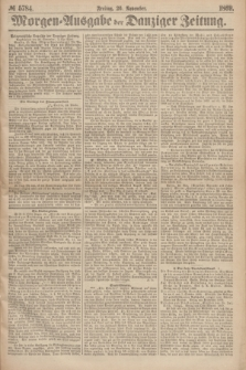 Morgen=Ausgabe der Danziger Zeitung. 1869, № 5784 (26 November)