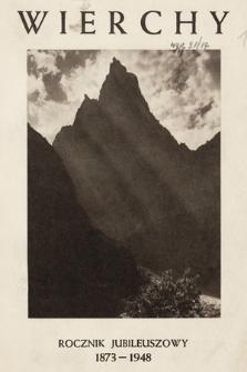 Wierchy : rocznik poświęcony górom i góralszczyźnie. R.18, 1948