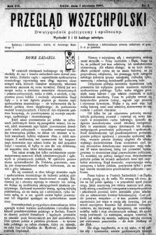 Przegląd Wszechpolski : dwutygodnik polityczny ispołeczny. 1897, nr1