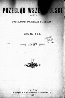 Przegląd Wszechpolski : dwutygodnik polityczny ispołeczny. 1897, spis rzeczy