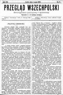 Przegląd Wszechpolski : dwutygodnik polityczny ispołeczny. 1897, nr9