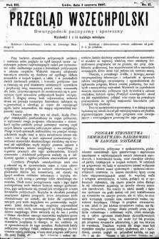 Przegląd Wszechpolski : dwutygodnik polityczny ispołeczny. 1897, nr11