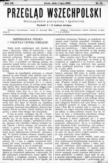 Przegląd Wszechpolski : dwutygodnik polityczny ispołeczny. 1897, nr13