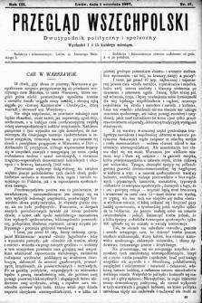Przegląd Wszechpolski : dwutygodnik polityczny ispołeczny. 1897, nr17
