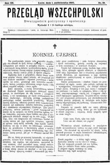 Przegląd Wszechpolski : dwutygodnik polityczny ispołeczny. 1897, nr19
