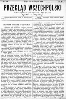 Przegląd Wszechpolski : dwutygodnik polityczny ispołeczny. 1897, nr21