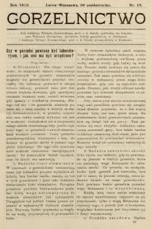 Gorzelnictwo. 1910, nr17