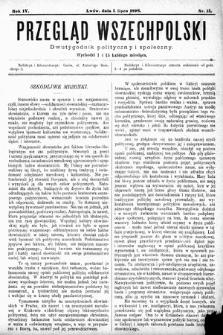 Przegląd Wszechpolski : dwutygodnik polityczny i społeczny. 1898, nr13