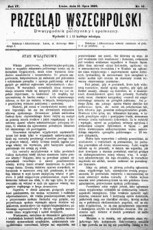 Przegląd Wszechpolski : dwutygodnik polityczny i społeczny. 1898, nr14