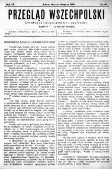 Przegląd Wszechpolski : dwutygodnik polityczny i społeczny. 1898, nr16