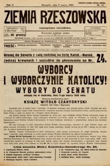 Ziemia Rzeszowska : czasopismo narodowe. 1928, nr10