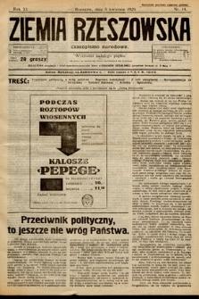 Ziemia Rzeszowska : czasopismo narodowe. 1929, nr14