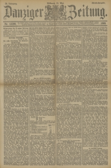 Danziger Zeitung. Jg.33, Nr. 18299 (21 Mai 1890) - Abend-Ausgabe. + dod.