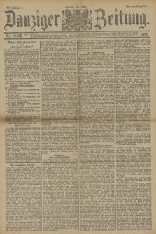 Danziger Zeitung. Jg.33, Nr. 18360 (27 Juni 1890) - Morgen-Ausgabe.