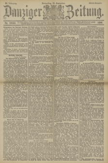 Danziger Zeitung. Jg.33, Nr. 18503 (18 September 1890) - Abend-Ausgabe.