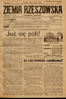 Ziemia Rzeszowska : czasopismo narodowe. 1930, nr6