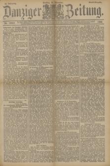 Danziger Zeitung. Jg.33, Nr. 18607 (18 November 1890) - Abend-Ausgabe. + dod.