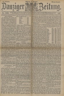 Danziger Zeitung. Jg.33, Nr. 18656 (17 Dezember 1890) - Morgen-Ausgabe.
