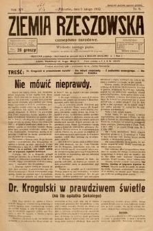 Ziemia Rzeszowska : czasopismo narodowe. 1932, nr6