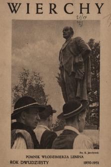 Wierchy : rocznik poświęcony górom. R.20, 1950/1951