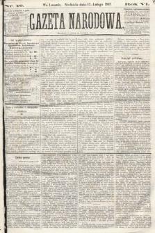 Gazeta Narodowa. 1867, nr40