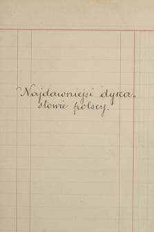 """""""Najdawniejsi dynastowie polscy"""". Notes 1"""