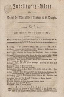 Intelligenz-Blatt für den Bezirk der Königlichen Regierung zu Danzig. 1824, No. 7 (24 Januar) + dod.