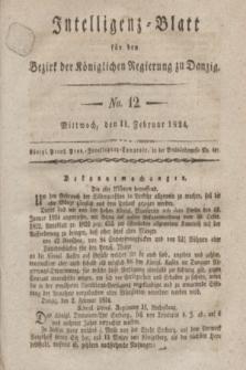 Intelligenz-Blatt für den Bezirk der Königlichen Regierung zu Danzig. 1824, No. 12 (11 Februar) + dod.