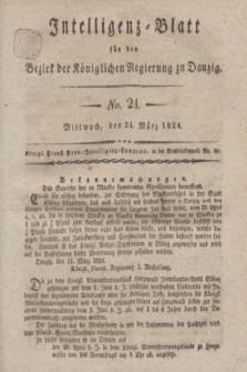 Intelligenz-Blatt für den Bezirk der Königlichen Regierung zu Danzig. 1824, No. 24 (24 März) + dod.
