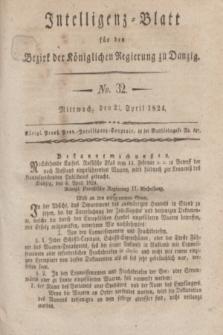 Intelligenz-Blatt für den Bezirk der Königlichen Regierung zu Danzig. 1824, No. 32 (21 April) + dod.