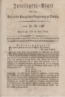 Intelligenz-Blatt für den Bezirk der Königlichen Regierung zu Danzig. 1824, No. 40 (19 Mai) + dod.