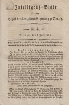 Intelligenz-Blatt für den Bezirk der Königlichen Regierung zu Danzig. 1824, No. 44 (2 Juni) + dod.