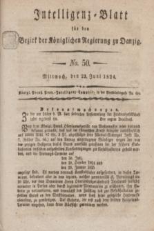 Intelligenz-Blatt für den Bezirk der Königlichen Regierung zu Danzig. 1824, No. 50 (23 Juni) + dod.