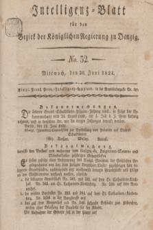 Intelligenz-Blatt für den Bezirk der Königlichen Regierung zu Danzig. 1824, No. 52 (30 Juni) + dod.