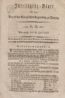 Intelligenz-Blatt für den Bezirk der Königlichen Regierung zu Danzig. 1824, No. 58 (21 Juli) + dod.