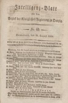 Intelligenz-Blatt für den Bezirk der Königlichen Regierung zu Danzig. 1824, No. 69 (28 August) + dod.