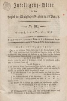 Intelligenz-Blatt für den Bezirk der Königlichen Regierung zu Danzig. 1824, No. 100 (15 December) + dod.