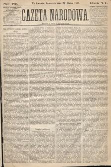 Gazeta Narodowa. 1867, nr72