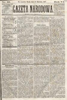 Gazeta Narodowa. 1867, nr89