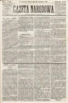 Gazeta Narodowa. 1867, nr145