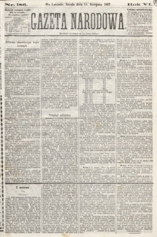 Gazeta Narodowa. 1867, nr186