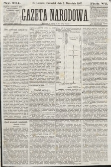 Gazeta Narodowa. 1867, nr204