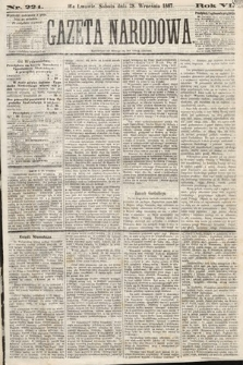 Gazeta Narodowa. 1867, nr224