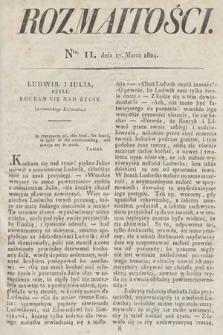 Rozmaitości : oddział literacki Gazety Lwowskiej. 1824, nr11