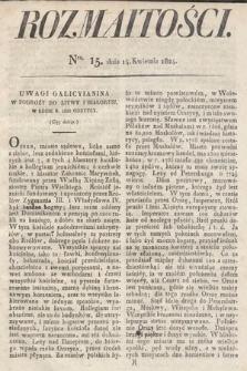 Rozmaitości : oddział literacki Gazety Lwowskiej. 1824, nr15