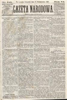Gazeta Narodowa. 1867, nr240