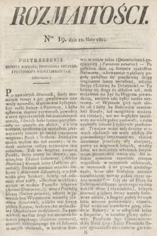 Rozmaitości : oddział literacki Gazety Lwowskiej. 1824, nr19
