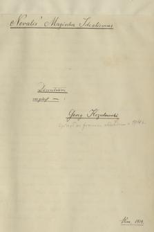 """""""Novalis' magischer Idealismus. Dissertation vorgelegt von Georg Kozubowski. Wien 1914"""""""
